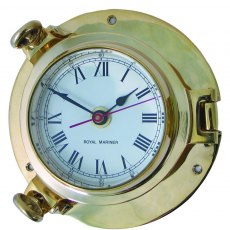 Meridian Zero Brass Porthole Clock - Medium