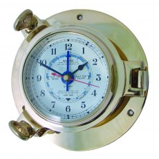 Meridian Zero Brass Porthole Tide Clock - Medium
