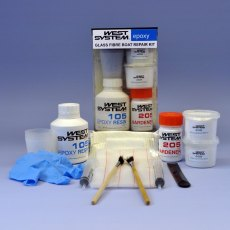 West System Epoxy 105-K Fiberglass Boat Repair Kit