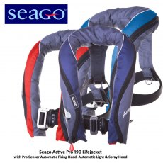 Seago Active Pro Lifejacket Auto/Harness Fitted Sprayhood & Light