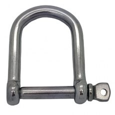 8 mm Stainless Steel Wide Jaw Shackle