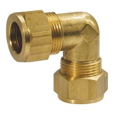 Equal 3/8 x 3/8 Tube Elbow Coupling