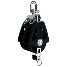 Lewmar Synchro Block Double Becket Black - 60mm