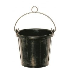 8 ltr Rubber Marine Bucket with Handle Loop & Rope