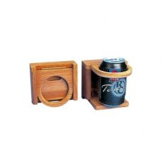 Teak Folding Drinks Holder