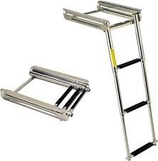 C.Quip 3 Step Stainless Steel Cassette Ladder 850mm