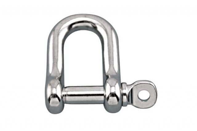 AP Lifting 5 mm Stainless Steel 'D' Shackle