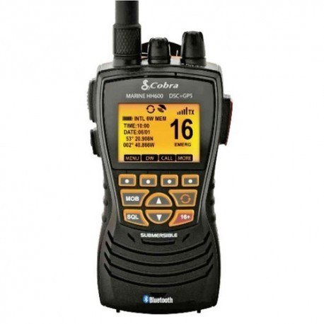 Cobra Electronics Cobra HH-MR600 DSC Handheld VHF Radio with GPS Bluetooth