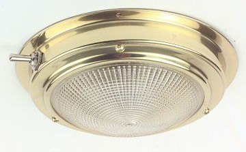 C.Quip 12v Brass Cabin Light 140mm