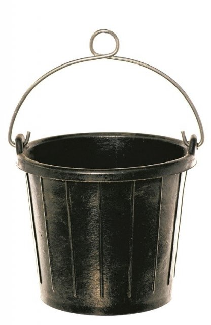 Yachticon 8 ltr Rubber Marine Bucket with Handle Loop & Rope